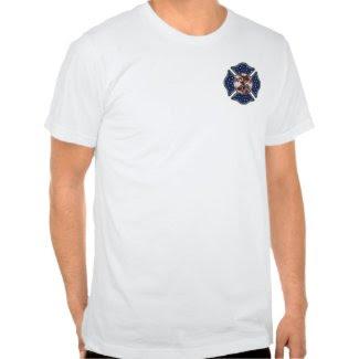 A Firefighter Patriotic Maltese Cross shirt