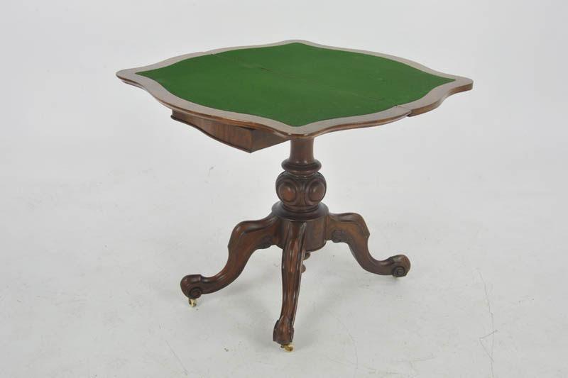 Antique Card Table Victorian Card Table Walnut Scotland 1870