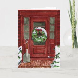 Holiday Door Card card