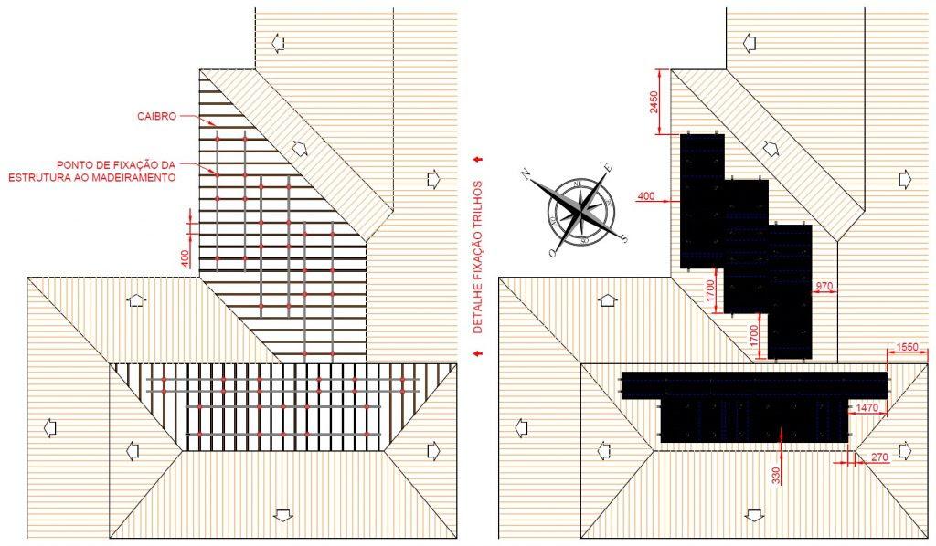 Projeto de Energia Solar Residencial: Desenho do Projeto