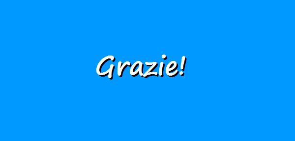 How To Say Thank You In Italian Learn Italian Daily