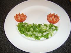 Salad Bed for Battered Haddock