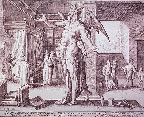The Physician as the Devil by Hendrik Goltzius, 1587 (NLM)