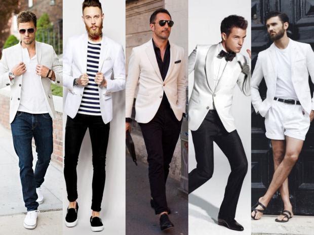 Resultado de imagem para blazer branco masculino