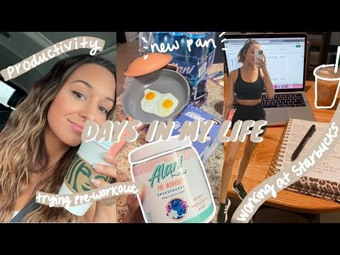 VLOG: Trying pre-workout, the everything pan, getting work done, period problems, productivity, etc