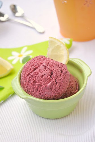 Bluberry Lemon Ice Cream