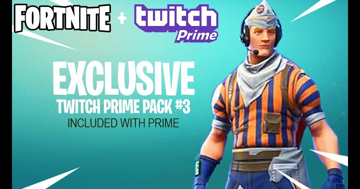 Fortnite 3rd Twitch Prime Pack Fortnite Generator No Human