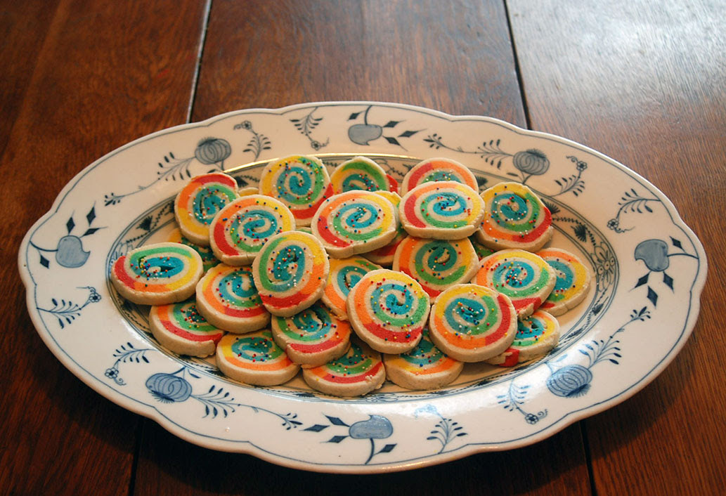 These colorful swirled cookies will take your sugar cookie game to a whole new level
