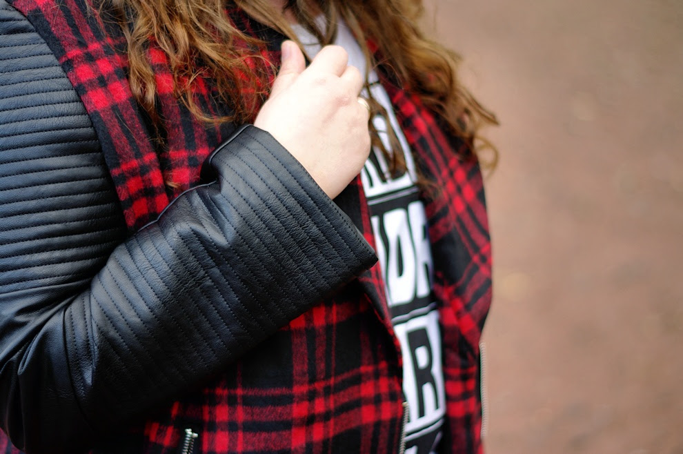 Große Größen Plus Size Fashion Blog  Missguided tartan jacket