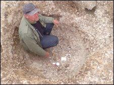 In the stone socket