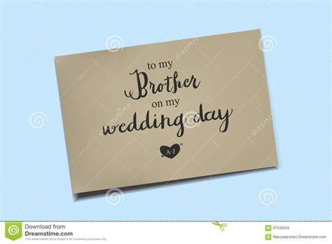 Thank You Card On My Wedding Day. Stock Illustration