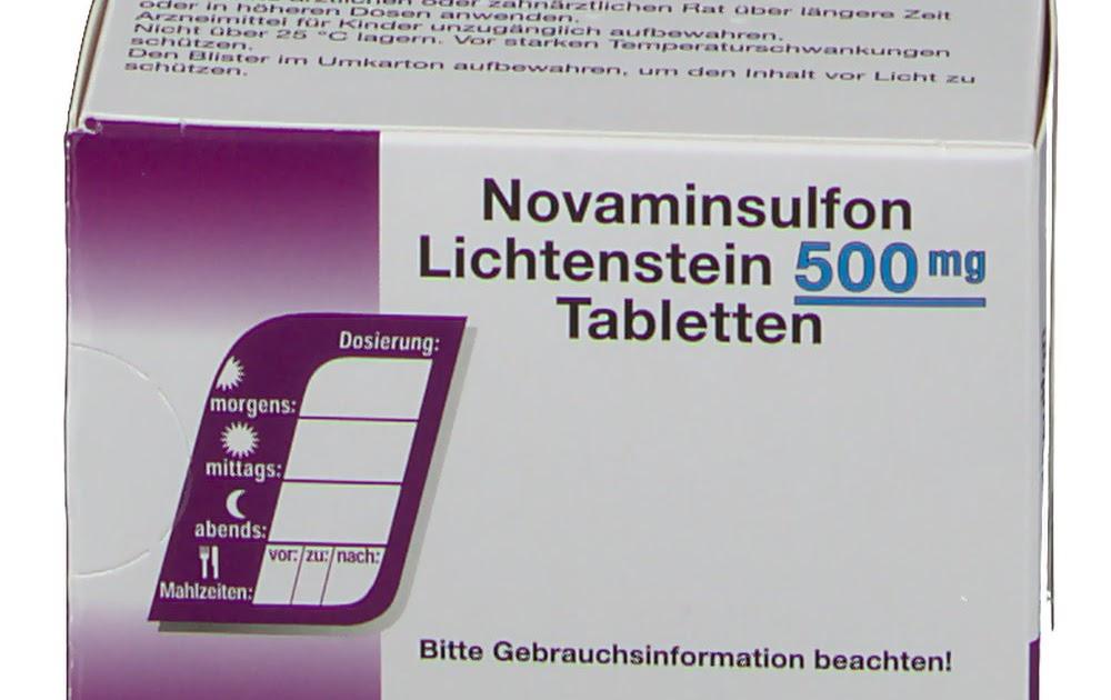 Rifai76487: Hei! 19+ Lister over Novaminsulfon 500