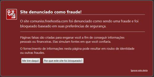 Tela de Malware Firefox
