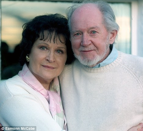 Devoted: Ronald Searle, the cartoonist and author with his wife Monica