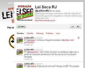 Perfil do Twitter Lei Seca RJ