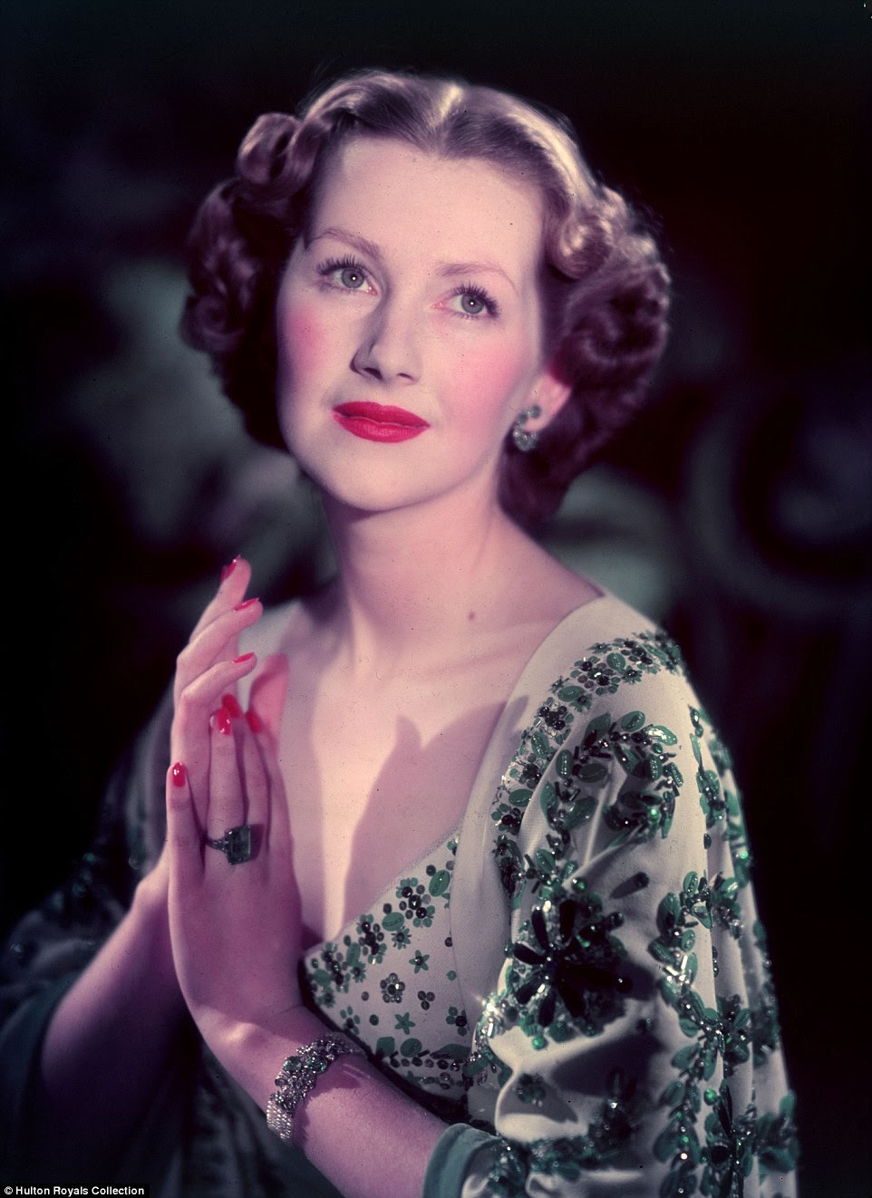 Raine Legge, as she was then known, is pictured above in 1957 during her marriage to the Earl of Dartmouth