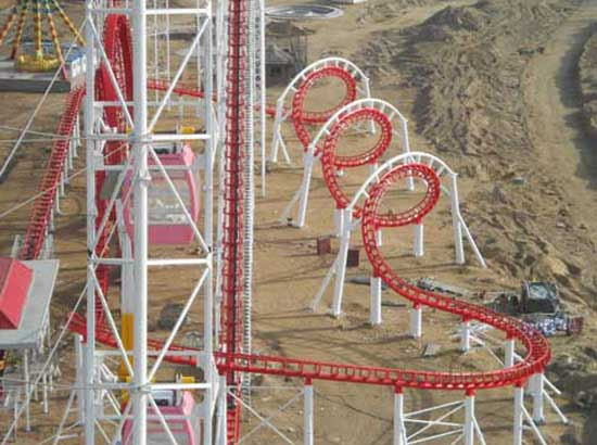 3 Ring Roller Coaster Rides for Sale