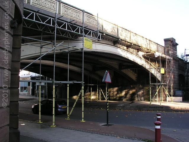 Friar Gate Bridge prior to safety netting