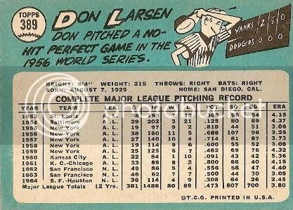 #389 Don Larsen (back)