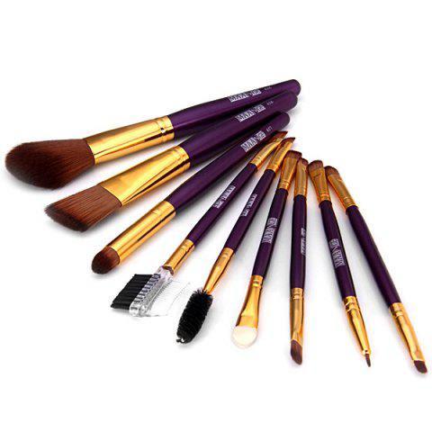 9PCS High-end Dresser Basic Brush Collection Cosmetic Blush Brush Smokey Eyeliner Brush Make-up Tool Set