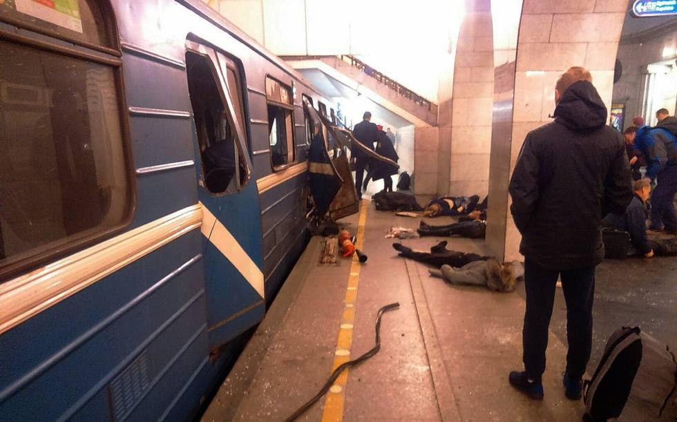 Atentado no metrô São Petersburgo Rússia