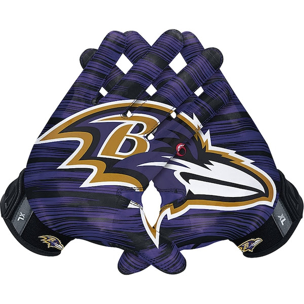 Mens Baltimore Ravens Nike NFL Vapor Jet 3.0 Authentic Gloves NFLShop.com