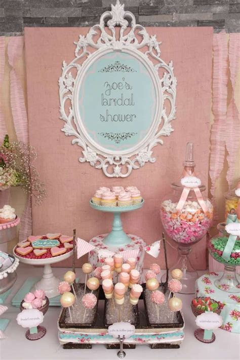 Vintage Shabby Chic Bridal/Wedding Shower Party Ideas