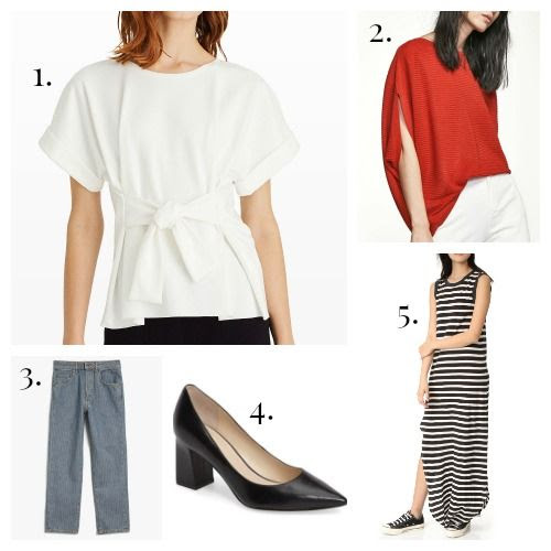 Club Monaco Blouse - Massimo Dutti Sweater - 6397 Jeans - Marc Fisher Pumps - The Great Maxi Dress