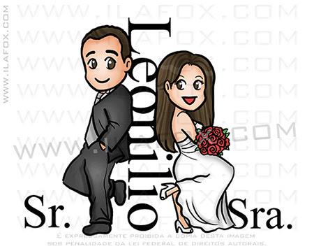 caricatura fofinha, caricatura fofa, caricatura simples, sr e sra smith, by ila fox
