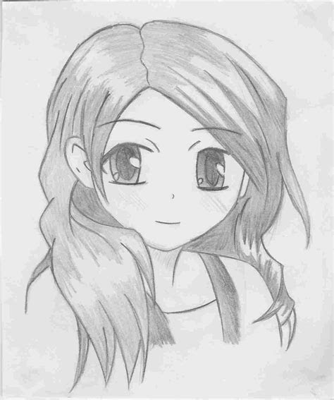 anime drawings easy girl drawing group fepaexorg