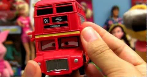 Cars 2 Double Decker Bus Diecast Topper Decking #4 Toy review Disney Pixar Mattel