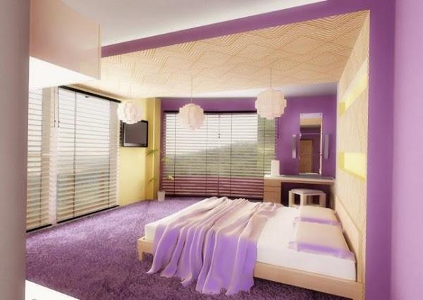 Pastel color palettes in elegant bedroom designs