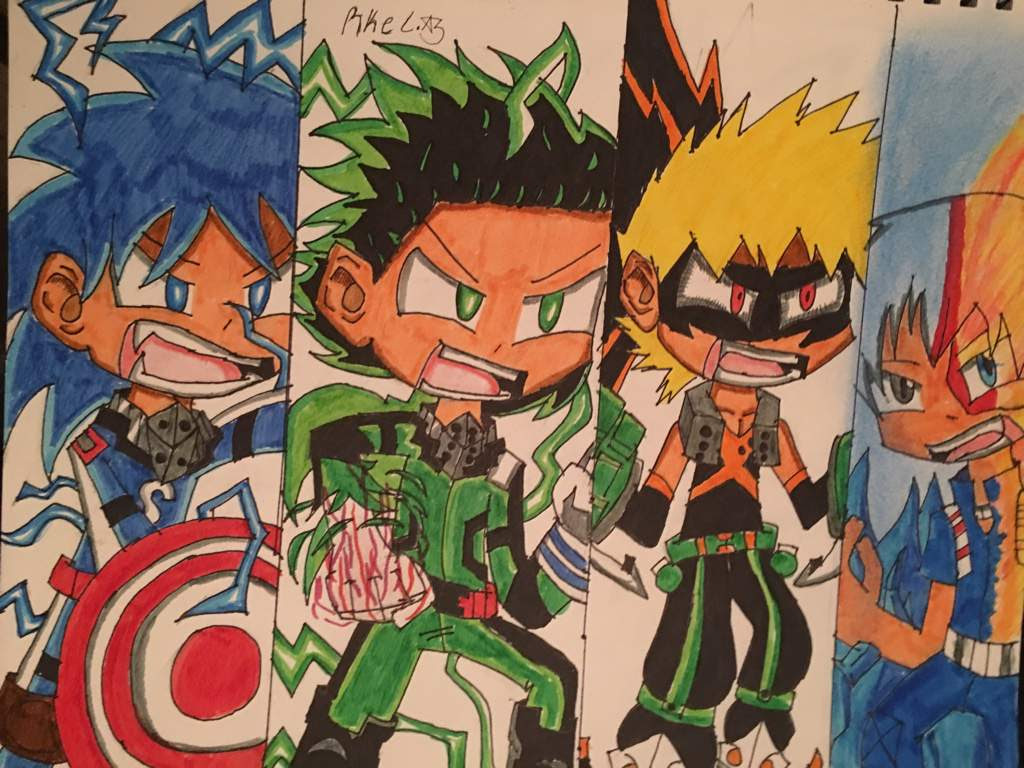 I Draw Tamic Izuku Kacchan And Todoroki My Hero Academia Amino