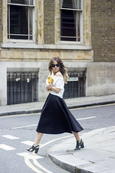 turquoise blue H&M skirt - Zara top - Top Shop heels