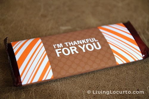 Free Printable Thanksgiving Candy Bar Wrapper