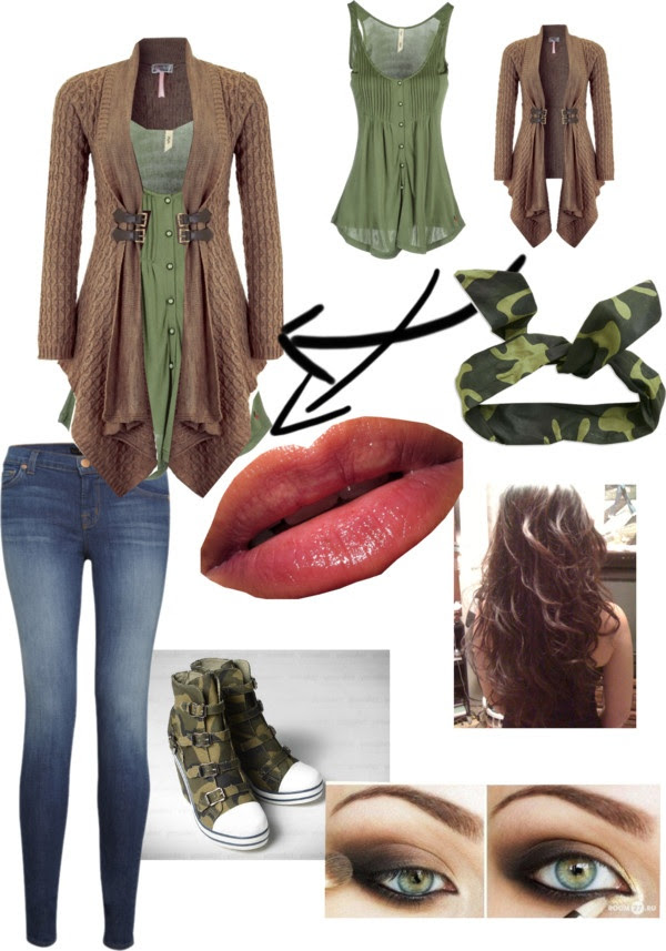 """""""Urban Camoflauge"""" by allicyn-texeira ❤ liked on Polyvore Love that sweater!!!"""