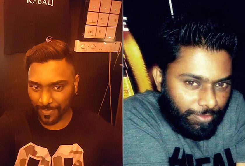 Pereka grafik, G. Sivanesan, 27 berkata dia mula membela jambang sejak melihat poster Kabali, dua bulan yang lepas.