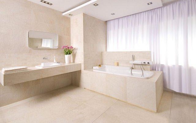 Stylowa łazienka w jasnych kolorach ecru -inspiracje 2013 ...
