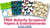 free butterfly scrapbook papers and embellishments