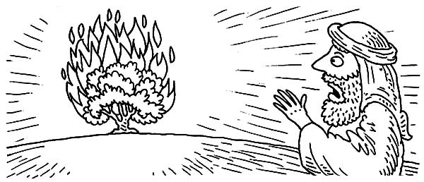 Burning Bush Moses   NetArt