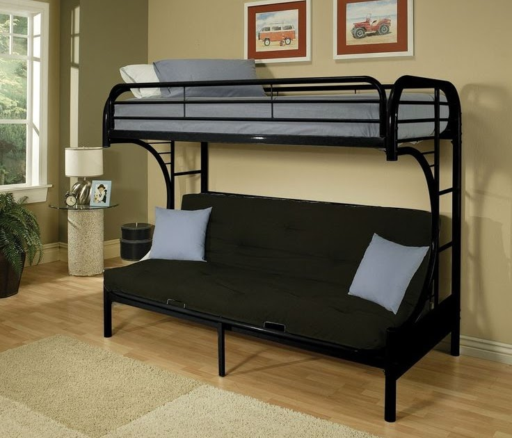 Double Bunk Bed With Sofa Underneath   20 Photos Bunk Bed ...