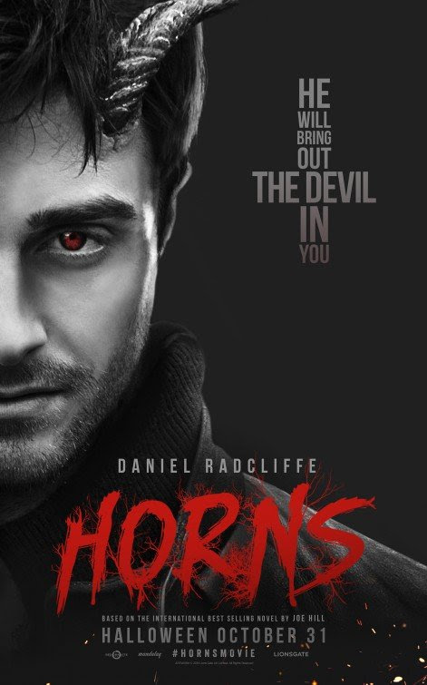 "Daniel Radcliffe, who has legions of young fans due to his role as Harry Potter is now promoting the movie Horns. This poster features One  Eye, devil horns and an inverted cross saying ""He will bring out the devil in you"". That is pretty much was most of the industry is about."