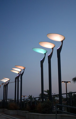 lighting poles at the company