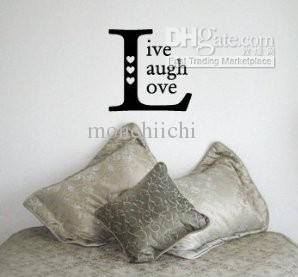 Wholesale Wall Sticker - Buy LIVE LAUGH LOVE SQUARE - Family