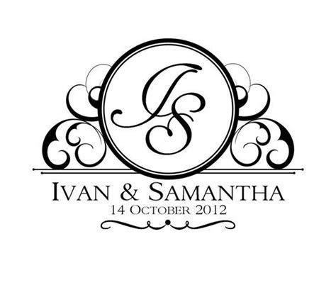 Custom Wedding Logo Design   Our Wedding   Sellos de boda