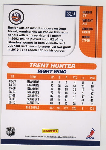Score - TRent Hunter back