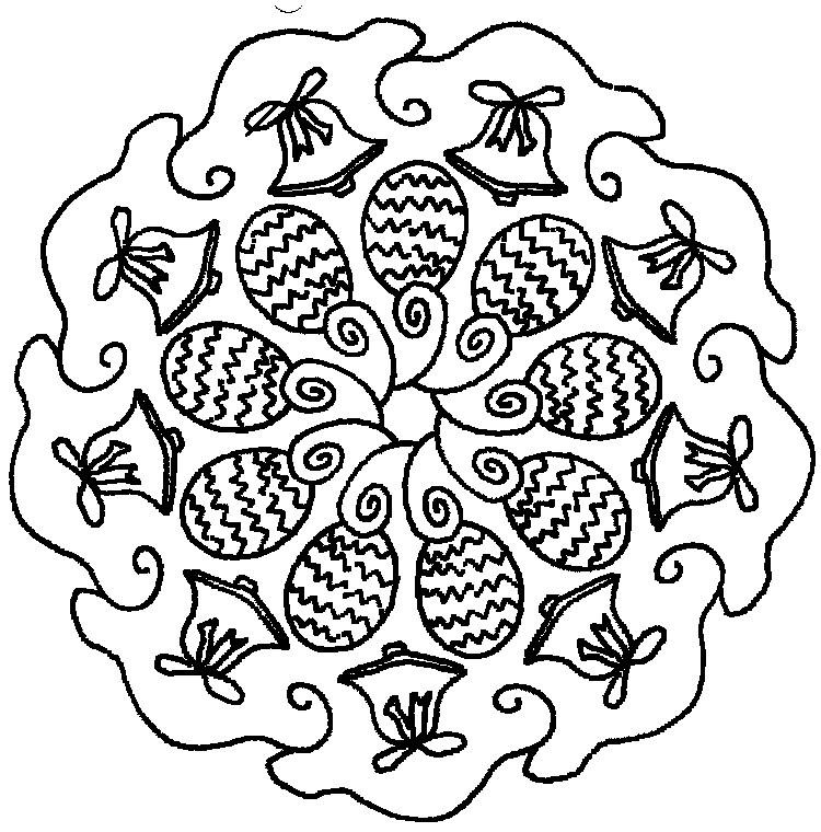 Disegno Da Colorare Mandala Di Pasqua 10