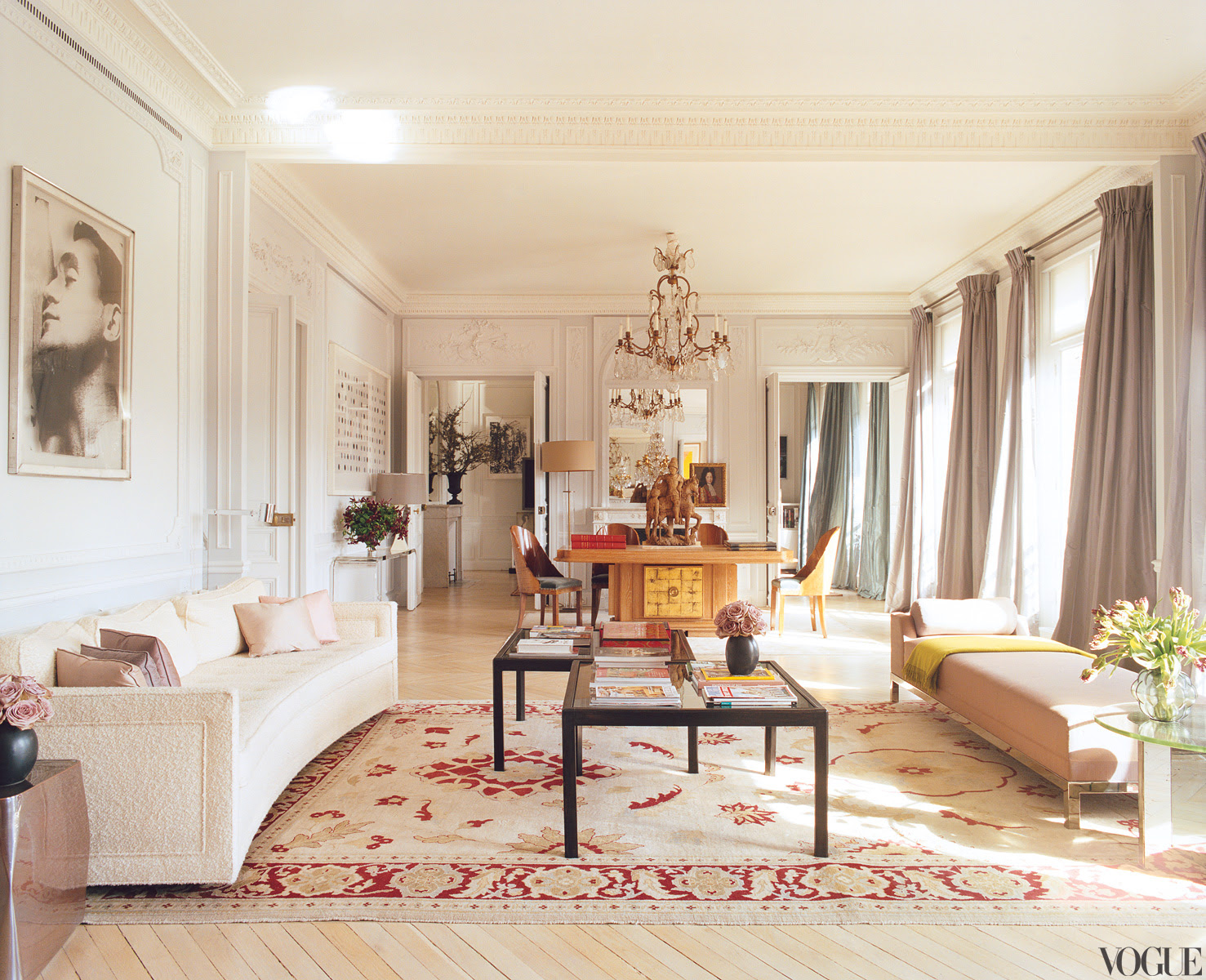 Famous folk at home: L'Wren Scott and Mick Jagger in Paris