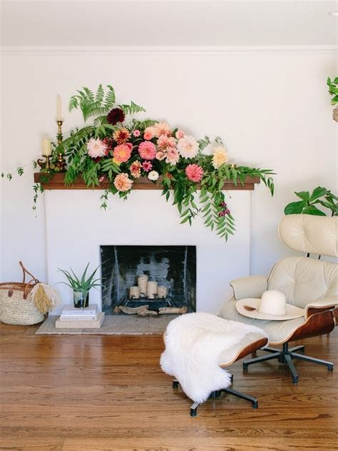 Dramatic Fireplace Mantel Flowers   Glitter Guide
