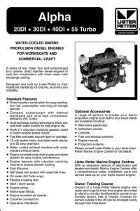 Lister and Lister Petter Diesel Engine Manuals - MARINE
